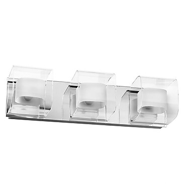 Dainolite Clear/Frosted Glass 3-Light Bath Bar