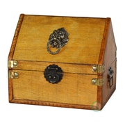 Quickway Imports Small Pirate Chest w/ Lion Rings
