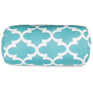 Majestic Home Goods Trellis Round Bolster Pillow; Teal