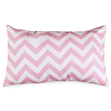 Majestic Home Goods Chervon Lumbar Pillow; Baby Pink