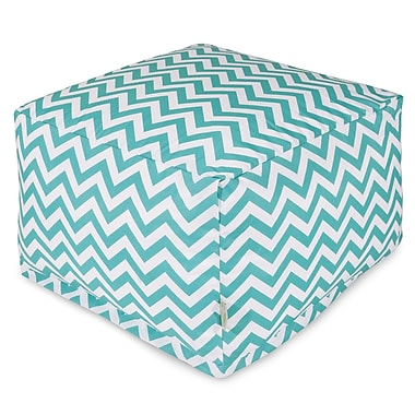 Majestic Home Goods Chevron Large Ottoman; Teal