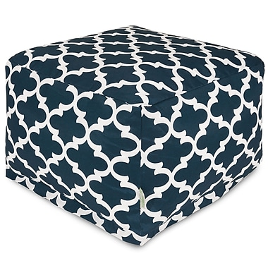 Majestic Home Goods Trellis Large Ottoman; Navy