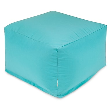 Majestic Home Goods Large Ottoman; Teal