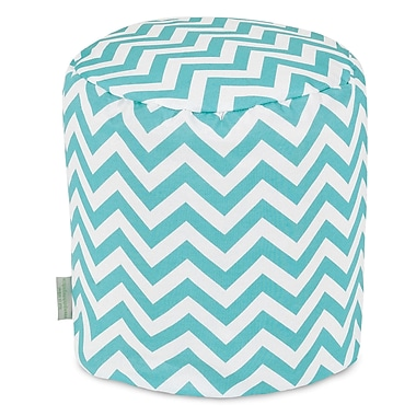 Majestic Home Goods Chevron Small Pouf; Teal