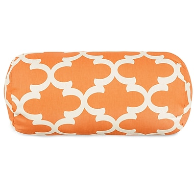 Majestic Home Goods Trellis Round Bolster Pillow; Peach
