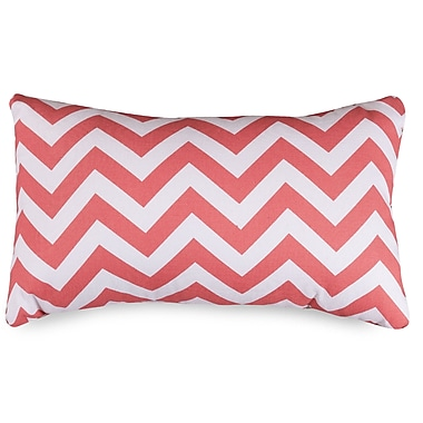 Majestic Home Goods Chervon Lumbar Pillow; Coral