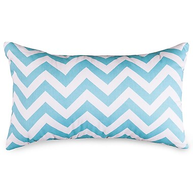 Majestic Home Goods Chervon Lumbar Pillow; Tiffany Blue
