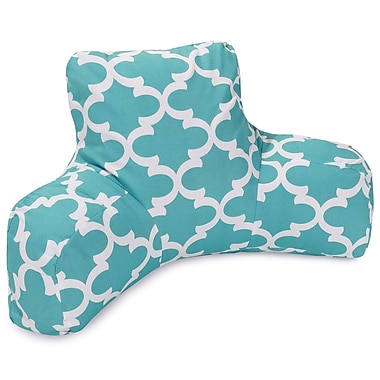 Majestic Home Goods Trellis Indoor/Outdoor Bed Rest Pillow; Teal