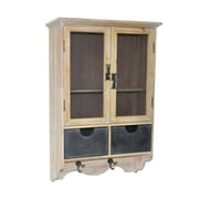 Cheungs Shabby 2 Drawer Wall Cabinet