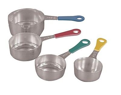 Fox Run Craftsmen 4-Piece Stainless Steel Measuring Cup Set WYF078275375159