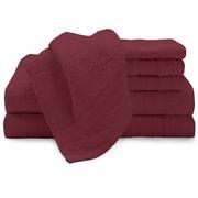 Baltic Linen Low Twist 6 Piece Towel Set; Red