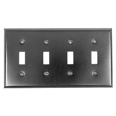 Acorn 4 Toggle Switch Plate