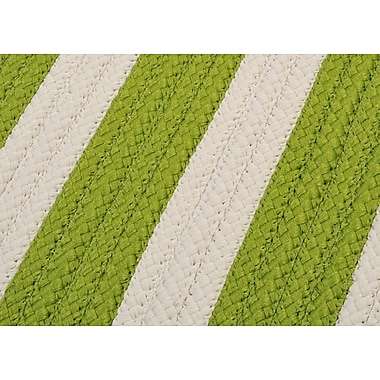 Colonial Mills Stripe It Bright Lime Sample Swatch