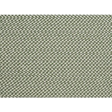 Colonial Mills Outdoor Houndstooth Tweed Leaf Green Sample Swatch