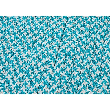 Colonial Mills Outdoor Houndstooth Tweed Area Rug; Turquoise Sample Swatch