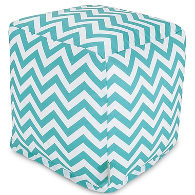 Majestic Home Goods Chevron Small Cube; Teal