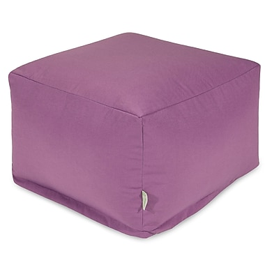 Majestic Home Goods Large Ottoman; Lilac