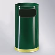 Rubbermaid Commercial Products 12-Gal European Designer Waste Receptacle; Empire Green/Brass