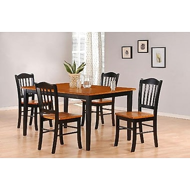 Boraam 5-Piece Shaker Dining Set, Black/Oak