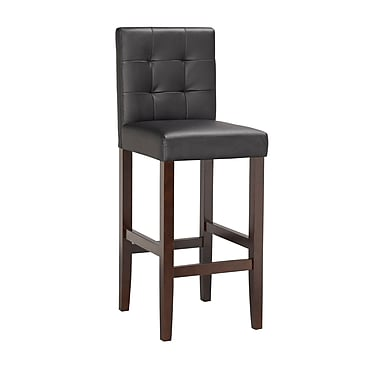 Boraam Lyon 42.25'' Contemporary Legged Base Fabric Bar Stool, Black (82129)