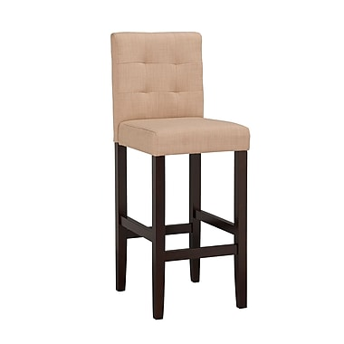 Boraam Lyon 42.25'' Contemporary Legged Base Linen Bar Stool, Khaki (82429)