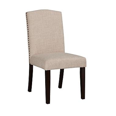 Boraam Champagne Parson Dining Chair, White-Sand