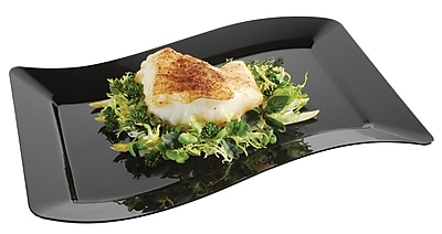 Fineline Settings Wavetrends 1407-BK Luncheon Plate, Black