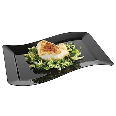 Fineline Settings Wavetrends 1407-BK Luncheon Plate, Black