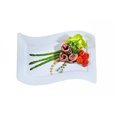 Fineline Settings Wavetrends 1407-WH Luncheon Plate, White