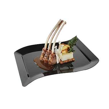 Fineline Settings Wavetrends 1410-BK Dinner Plate, Black