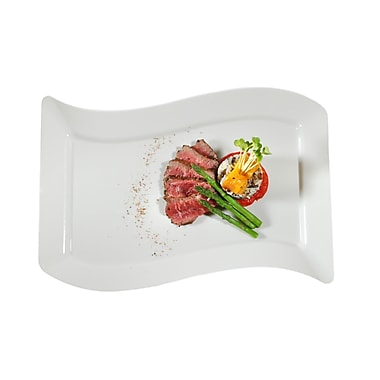 Fineline Settings Wavetrends 1410-BO Dinner Plate, Bone