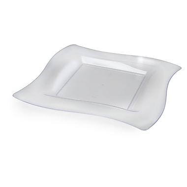 Fineline Settings Wavetrends 110-CL Dinner Plate, Clear