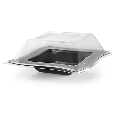 Fineline Settings Wavetrends 105-L Square Wavey Bowl, Clear