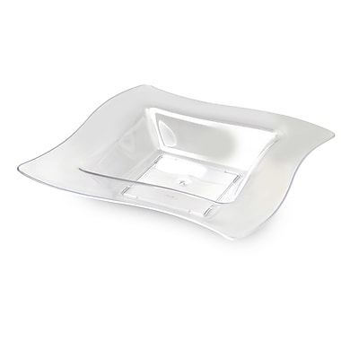 Fineline Settings Wavetrends 112-CL Square Wavey Bowl, Clear