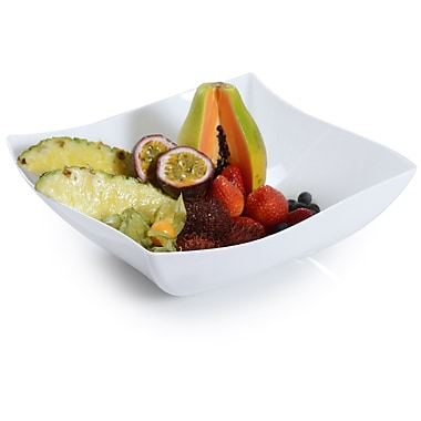 Fineline Settings Wavetrends 128-WH Serving Bowl, White