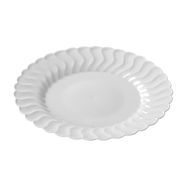 Fineline Settings Flairware 209-WH Flaired Dinner Plate, White