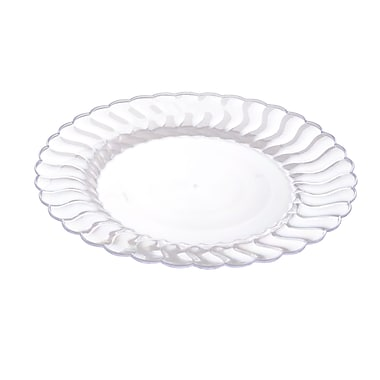 Fineline Settings Flairware 209-CL Flaired Dinner Plate, Clear