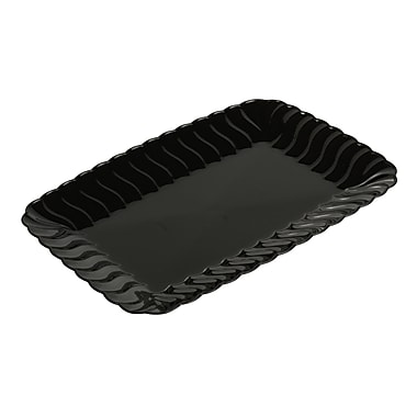 Fineline Settings Flairware 257 Snack Tray, Black
