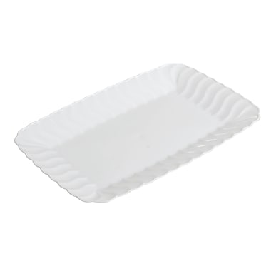Fineline Settings Flairware 257 Snack Tray, White