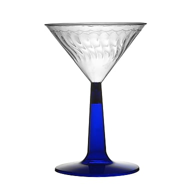 Fineline Settings Flairware 2306-BL Martini Glass, Blue