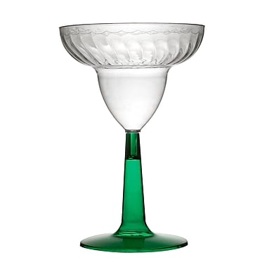 Fineline Settings Flairware 2312-GRN Margarita Glass, Green