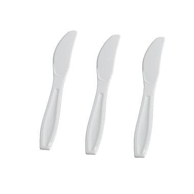 Fineline Settings Flairware 2504-WH Knives Boxed, White
