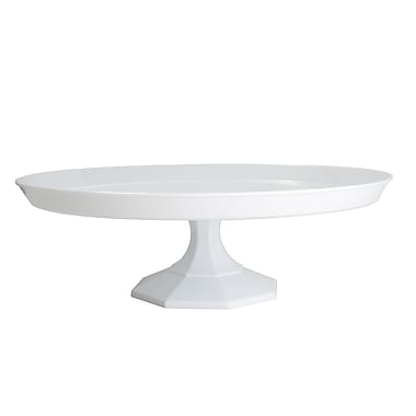 Fineline Settings Platter Pleasers 3602 Cake Stand, White
