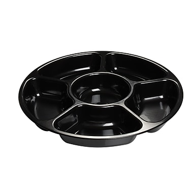Fineline Settings Platter Pleasers 3521 Six Compartment Tray