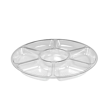 Fineline Settings Platter Pleasers 3507 Seven Compartment Tray, Clear