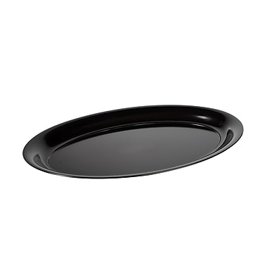 Fineline Settings Platter Pleasers 3514 Oval Serving Tray, Black