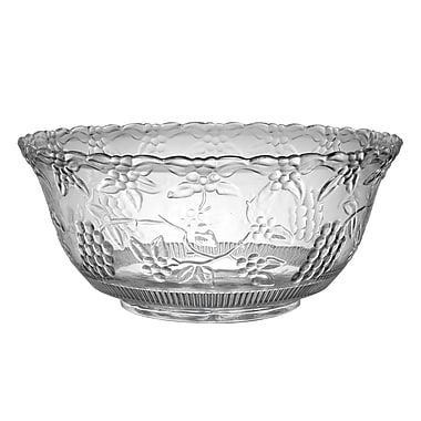 Fineline Settings Platter Pleasers 3508 Clear Punch Bowl