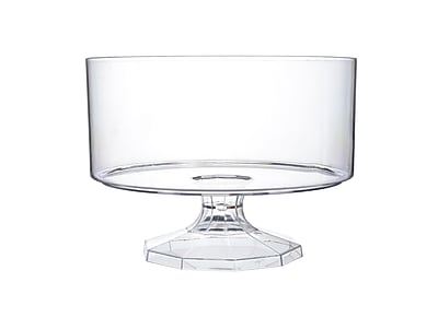 Fineline Settings Platter Pleasers 3530 Clear Trifle Bowl