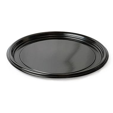 Fineline Settings Platter Pleasers 7610TF Black Vintage Round Tray