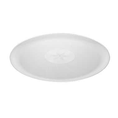 Fineline Settings Platter Pleasers 8401 Classic Round Tray, Clear